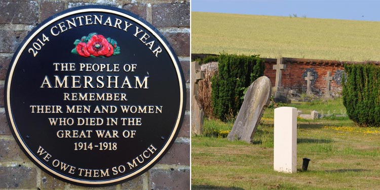 two WW1 memorials in Amersham