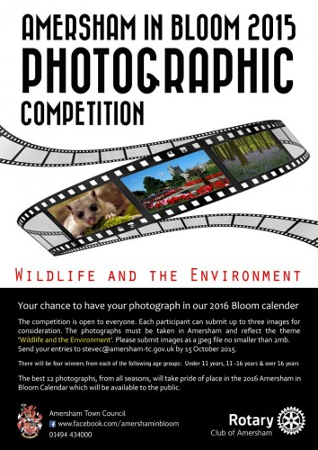 Amersham in Bloom Photo Competition Poster