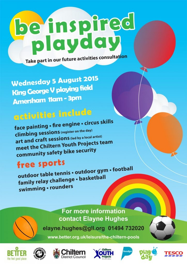 Poster for Amersham Playday 2015