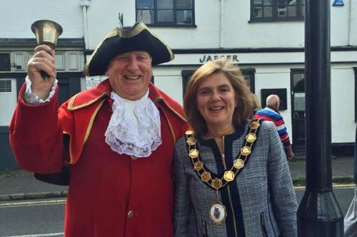 Town crier and mayor Amersham heritage Day 2015