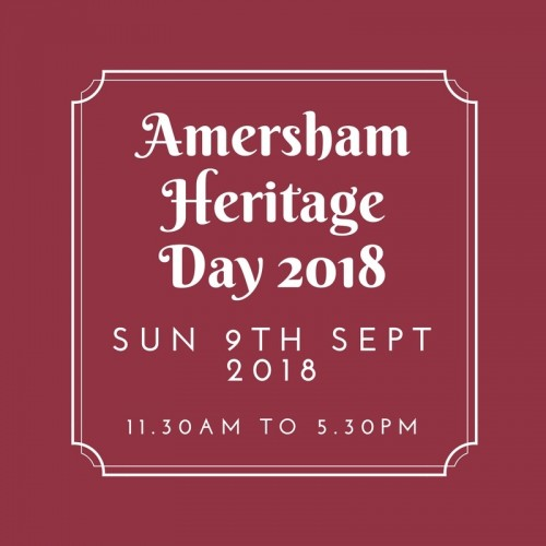 Amersham Heritage Day 2018 - Save the Date