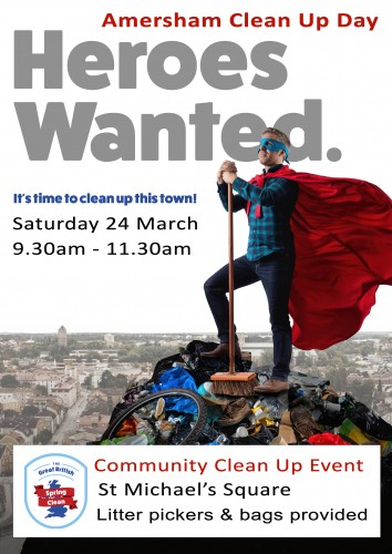 amersham clean up day poster 2018